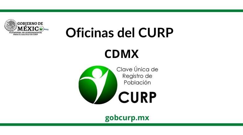Oficinas para sacar el CURP en CDMX