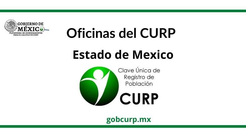 Oficinas para sacar el CURP en Estado de Mexico